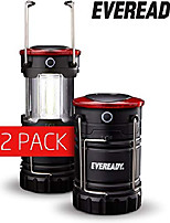 cheap -360 led camping lantern, ipx4 water resistant, super bright, 100 hour run-time, battery powered outdoor led lantern, black, 2-pack, compact