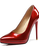 cheap -Women's Heels Stiletto Heel Pointed Toe Classic Daily Solid Colored PU Nude / Black / Red
