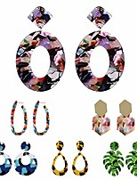 cheap -statement earrings for women acrylic resin multicolor earrings for girl dangles drop earrings