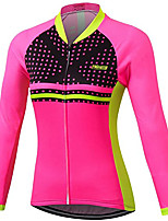 cheap -21Grams Women's Long Sleeve Cycling Jacket Fuchsia Novelty Bike Jersey Top Mountain Bike MTB Road Bike Cycling UV Resistant Breathable Quick Dry Sports Clothing Apparel / Stretchy