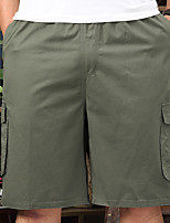 cheap -Men's Basic Daily Shorts Pants Solid Colored Outdoor Black Army Green Khaki XL XXL 3XL