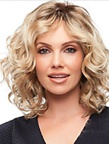 cheap -Synthetic Wig Curly Asymmetrical Wig Short Blonde Synthetic Hair Women's Fashionable Design Ombre Hair Romantic Blonde