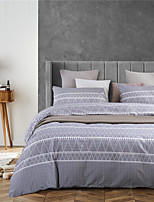 cheap -Gray Lines Print 3 Pieces Bedding Set Duvet Cover Set Modern Comforter Cover-3 Pieces-Ultra Soft Hypoallergenic Microfiber(Include 1 Duvet Cover and 1 or2 Pillowcases)