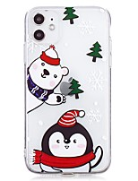 cheap -Case For Apple iPhone 12 / iPhone 12 Mini / iPhone 12 Pro Max Ultra-thin / Transparent Back Cover Christmas TPU