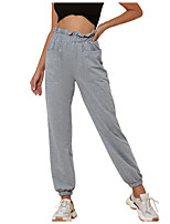cheap -Women's Basic Daily Chinos Pants Solid Colored Sports Gray S M L