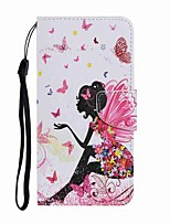 cheap -Case For Huawei P Smart 2019 P30 Lite Honor 10 Lite P Smart 2020  Wallet Card Holder with Stand Full Body Cases Dancing Girl PU Leather TPU for Huawei Y5 2019 P40 Pro P40 Lite E Y7P P40 Lite Honor20