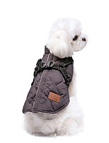 cheap -Dog Jacket Vest Solid Colored Casual / Sporty Fashion Casual / Daily Winter Dog Clothes Breathable Fuchsia Beige Gray Costume Cotton S M L XL XXL 3XL