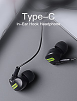 cheap -Type-C Wired Sport Earphone For Xiaomi Huawei In Ear Hook Running USB C Headsets Microphone Volume Control Earbuds