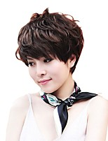 cheap -Synthetic Wig Curly Pixie Cut Wig Short Dark Brown Synthetic Hair 12 inch Women's Cute Classic Exquisite Dark Brown