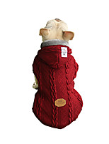 cheap -Dog Coat Sweater Solid Colored Casual / Sporty Fashion Casual / Daily Winter Dog Clothes Breathable Red Blue Costume Fleece Cotton S M L XL XXL