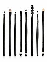 cheap -10 pcs/sets makeup brush set for eye shadow foundation eyebrow lip & #40;black-5& #41;
