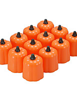 cheap -Halloween Party Toys LED Lighting Electronic Candle Light 24 pcs Pumpkin Twinkling Plastic Kid's Adults Trick or Treat Halloween Party Favors Supplies