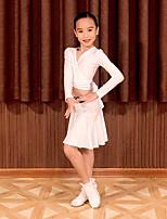 cheap -Latin Dance Skirts Bandage Girls' Performance Long Sleeve Natural Spandex