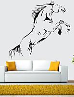 cheap -Black Galloping Horse Wall Sticker Vinyl Jumping Horse Wallpaper Art Mural Home Decoration
