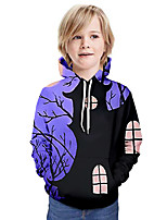 cheap -Kids Boys' Basic 3D Long Sleeve Hoodie & Sweatshirt Blue