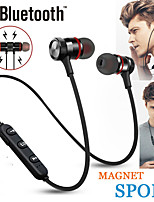 cheap -Wireless Earphones Sport Neckband Magnetic Bluetooth5.0 Earphones Stereo Earbuds Music Metal Headphones With Mic For All Phones
