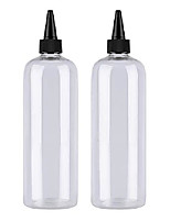 cheap -hair color bottle applicator, sdootbeauty applicator bottle 16 ounce, squeeze bottle for hair, pet plastic refillable bottles with twist top cap- 2 pack,transparent
