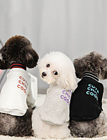 cheap -Dog Sweater Hoodie Solid Colored Casual / Sporty Fashion Casual / Daily Winter Dog Clothes Breathable White Black Gray Costume Cotton S M L XL XXL