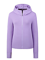 cheap -Women's Windbreaker Hiking Jacket Summer Outdoor Thermal Warm Windproof Breathable Quick Dry Top Camping / Hiking Running Outdoor Mineral Green / White / Purple / Pink / Grey / Ultraviolet Resistant