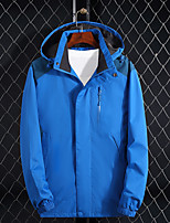 cheap -Men's Hiking Jacket Outdoor Thermal Warm Waterproof Windproof Breathable Jacket Top Camping / Hiking Hunting Climbing Black / Red / Blue / Light Blue / Ultraviolet Resistant