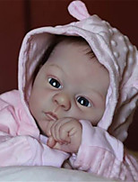 cheap -21 inch Reborn Doll Baby & Toddler Toy Baby Girl Reborn Baby Doll Harlow Newborn lifelike Hand Made Simulation Cloth Silicone Vinyl with Clothes and Accessories for Girls' Birthday and Festival Gifts