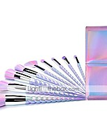 cheap -ksun pink unicorn hair brush cute korean cosmetics 10 pieces professional rainbow unicorn makeup brushes set with case(10pcs)