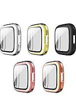 cheap -Cases For fitbit versa 2 Plastic / Tempered Glass Compatibility Fitbit