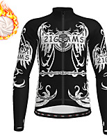 cheap -21Grams Men's Long Sleeve Cycling Jacket Winter Fleece Polyester Black Blue Orange Novelty Skull Funny Bike Jacket Top Mountain Bike MTB Road Bike Cycling Thermal Warm Fleece Lining Breathable Sports