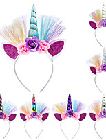 cheap -Unicorn Halloween Props Girls' Movie Cosplay Headpieces Golden / White / Purple Headwear Christmas Halloween Carnival Plastics