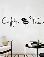 cheap -Coffee Time Wall Stickers Modern Cafe Art Decal Kitchen Coffee Shop Office Background Removable Wall Mural Home Decor
