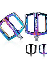 cheap -Bike Pedals Anti-Slip High Strength Durable Aluminium 7075 for Cycling Bicycle Mountain Bike MTB Rainbow