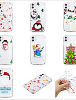 cheap -Case For Apple scene map iPhone 11 11 Pro 11 Pro Max Christmas series pattern high translucent TPU material soft case WL