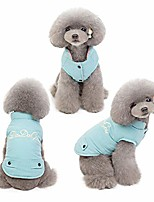 "cheap -colorful warm puffer vest for dogs (s (chest girth 12""), turquoise)"