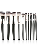 cheap -15 Pcs Makeup Brush Set Shiny Brush Hair Makeup Brush Set Beauty Tool Wooden Handle Loose Powder Brush