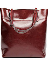 cheap -women's handbag genuine leather tote shoulder bags soft hot wine red