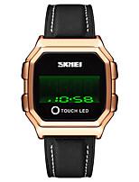 cheap -SKMEI Men's Digital Watch Digital Modern Style Stylish Casual Water Resistant / Waterproof Digital Rose Gold Black Blue / One Year / Leather / Calendar / date / day / Shock Resistant