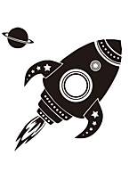 cheap -New Cartoon Stickers Space Star Rocket Self Adhesive Wall Stickers Creative Children's Room Bedroom Wall Decoration