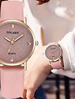 cheap -Women's Quartz Watches Quartz Modern Style Stylish Sparkle Cute Analog White Black Purple / PU Leather