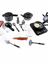 cheap -kitchen pretend play accessories toys with stainless steel cookware pots and pans set and grocery play food for kids boys, baby gifts learning tool. (multicolor)