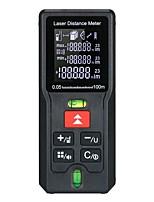 cheap -Handheld Digital Laser Distance Meter Portable Mini Range Finder High-precision Rangefinder M/In/Ft 20Groups Data Storage LCD Display Backlight with 2 Bubble Levels Diastimeter Distance Area Volume