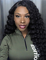 cheap -Synthetic Wig Afro Afro Curly with Baby Hair Wig Very Long Natural Black Synthetic Hair 62-65 inch Women's African American Wig Black