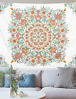 cheap -bohemian tapestry floral medallion tapestry sketched flowers tapestries mandala hippie tapestry wall hanging for room & #40;59.1 x 82.7 inches& #41;