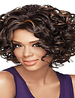 cheap -Synthetic Wig Curly Afro Curly Pixie Cut Wig Short Dark Brown Synthetic Hair Women's Fashionable Design Party Classic Dark Brown