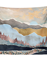 cheap -Wall Tapestry Art Decor Blanket Curtain Picnic Tablecloth Hanging Home Bedroom Living Room Dorm Decoration Polyester Colorful Mountain River Beauty Views