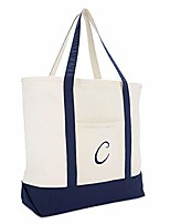 cheap -monogram tote bag personalized initial navy blue - c