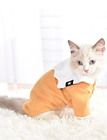 cheap -Dog Shirt / T-Shirt Hoodie Solid Colored Casual / Sporty Fashion Casual / Daily Winter Dog Clothes Breathable Yellow Blue Pink Costume Cotton S M L XL XXL