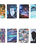 cheap -Case For Samsung Galaxy  Tab A 10.1 2019 T510 T515 Tab A 8.0 2019 T290 295 Tab S6 Lite SM-P610 615 Wallet Card Holder with Stand Full Body Cases sky Animal Marble PU Leather