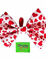 cheap -dimples dog bow tie – valentine hearts // perfect bow tie for dogs – dog accessories handmade in ireland – original dog owner gifts – canine accessories
