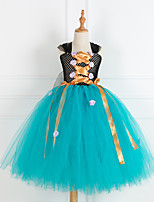 cheap -Princess Cosplay Costume Costume Girls' Movie Cosplay Tutus Plaited Blue Dress Christmas Halloween Carnival Polyester / Cotton Polyester
