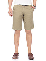 cheap -Men's Basic Daily Shorts Pants Solid Colored Outdoor Khaki Dark Gray Navy Blue 30 31 32